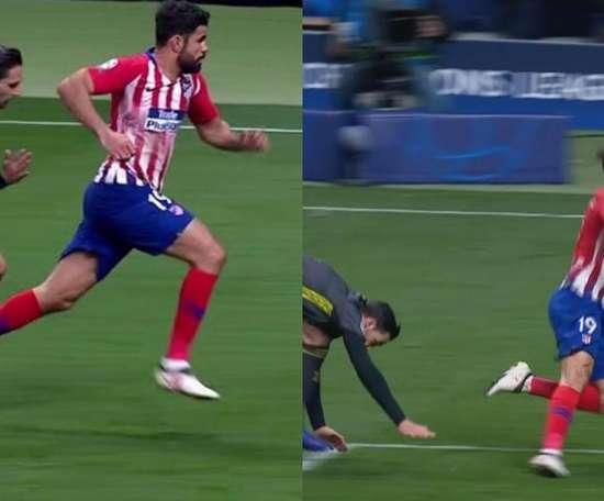 Polémique sur l'action de Costa. Capture/ESPN