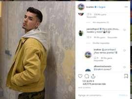 Brahim fuels the rumours. Screenshot/Instagram