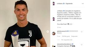 Cristiano Ronaldo boasted his latest award. Instagram/Screenshot