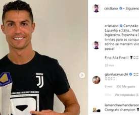 Cristiano presumió de conquistar media Europa. Instagram/CristianoRonaldo  Add video