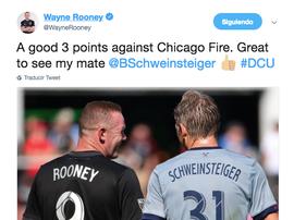 Rooney y Schweinsteiger volvieron a encontrarse. Twitter/WayneRooney