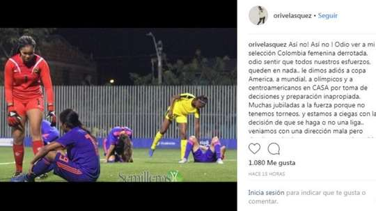 Oriana alzó la voz. Instagram/OriVelasquez