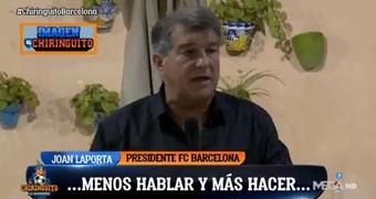 La tensión en el club es notoria. Captura/Twitter/ElChiringuitoTV