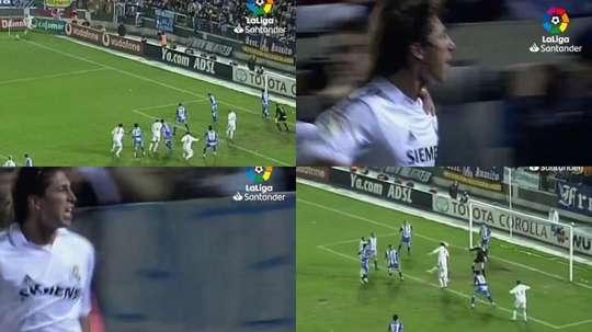 Grâce à un corner de Zidane. Captura/LaLiga