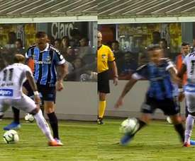 Règle numéro 1 : N'écarte jamais les jambes face à Everton. Captura/SportTVPremiere