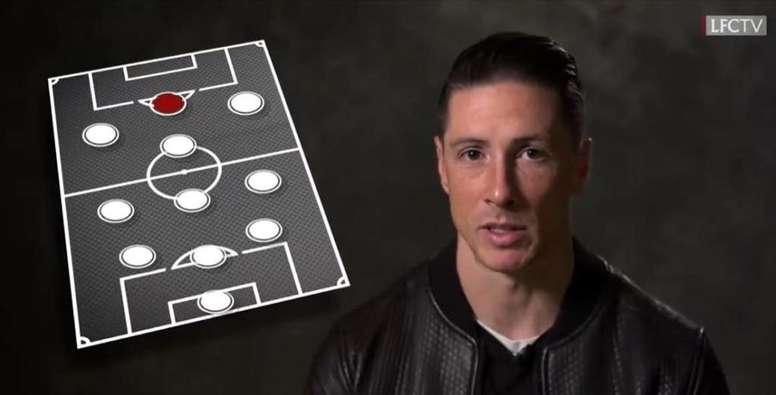 Fernando Torres has chosen his best XI amongst his teammates. Youtube/LiverpoolFC