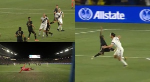 Ibrahimovic teve noite inspiradíssima contra o Los Angeles FC. Captura/DAZN