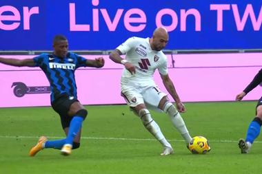 L'Inter pareggia contro il Toro.MovistarLigadeCampeones