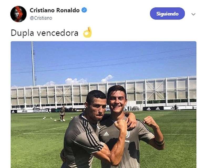 Cristiano y Dybala ya ganan batallas. Twitter/Cristiano