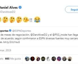 Alves has rubbished talk of a contract renewal. Captura/DaniAlves