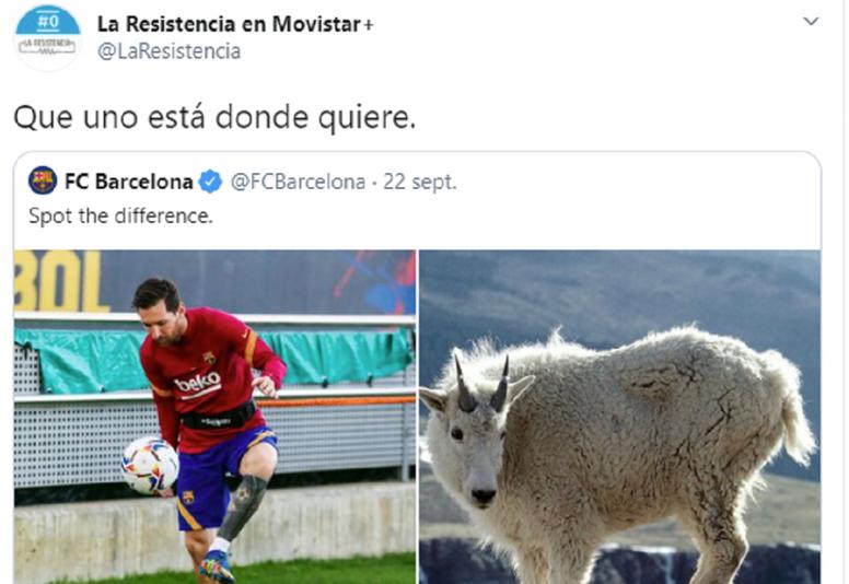 Nueva respuesta de La Resistencia al Barça en las redes. Captura/Twitter/LaResistencia