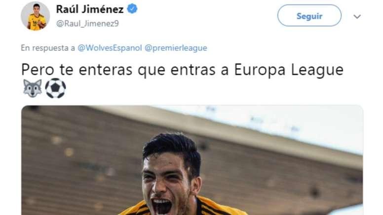 El mexicano celebró la victoria del City en la FA Cup. Captura/RaúlJiménez