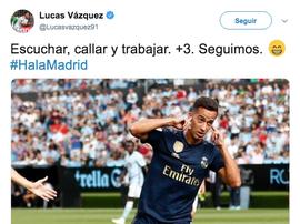 Le tweet de Lucas Vazquez.  Twitter/Lucasvazquez91