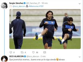 Sergio Sánchez compartió una imagen con Isco. Captura/S_Sanchez_21
