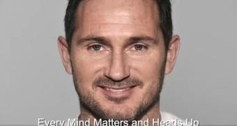 Lampard es uno de los protagonistas de la campaña. Twitter/HeadsTogether