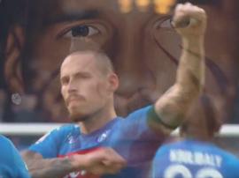 Hamsik, despedido de manera grandilocuente por su ya ex club. Captura/Napoli