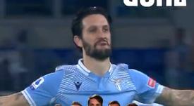 La Lazio le endosó tres goles a la Roma en el derbi. Captura/OfficialSSLazio