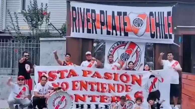 Varios aficionados de River mandaron su apoyo al equipo. Captura/Olé