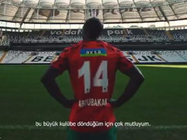 Besiktas announce Aboubakar. Captura/Besiktas
