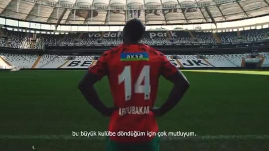 Besiktas announce Aboubakar. Captura/Besiktas