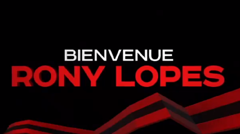 Rony Lopes has gone to Nice.  Captura/OGNice
