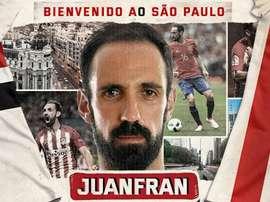 Juanfran signe à Sao Paulo. SaoPauloFC_Esp