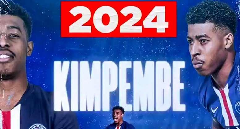 Kimpembe renueva hasta el 2024. Captura/PSG