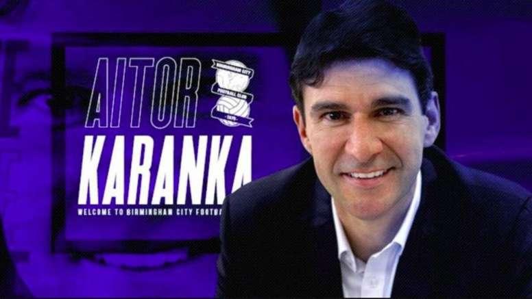 Aitor Karanka, nuevo entrenador del Birmingham City. Captura/BCFC