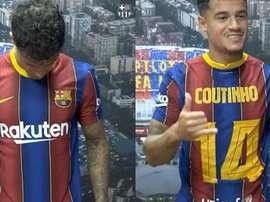 Coutinho cambia el '7' por el '14'. Captura/FCBarcelona