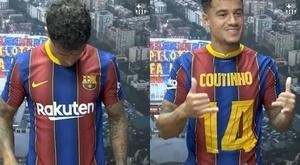 Coutinho passe du numéro 7 au 14. Capture décran/FCBarcelona