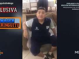 ¡Este fue el vídeo con el que Maradona motivó al Lugo! Captura/MEGA