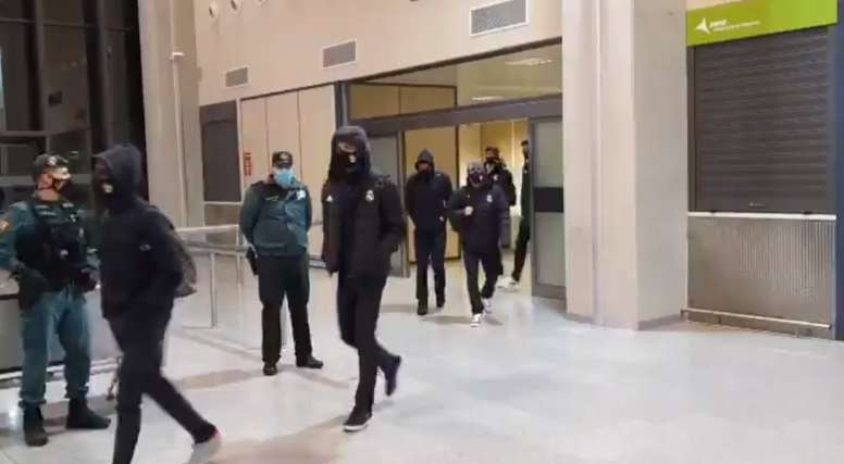 Las consecuencias de la borrasca se han hecho notar en Madrid-Barajas. Captura/DN_deportes