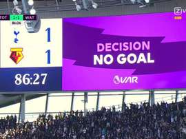 Company behind VAR apologises for mistake during Tottenham-Watford. Screenshot/ZVoetbal