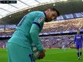 Qu'ont lancé les supporters de la Real à Messi ? Capture/ESPN