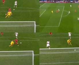 Bale acortó distancias en el marcador. Captura/Sky
