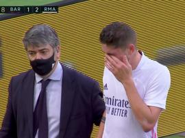 Valverde não aguentou os 90 minutos contra o Barça. Captura/MovistarLaLiga