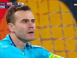 Akinfeev has condeded in every Champions League game for 11 years. AFP