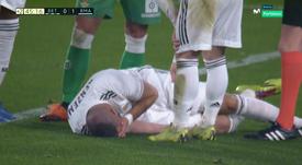 Benzema a fait une mauvaise chute. Movistar+