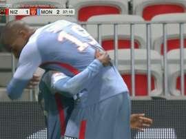 Diakhaby anotó el segundo del Mónaco al Niza. ESPN