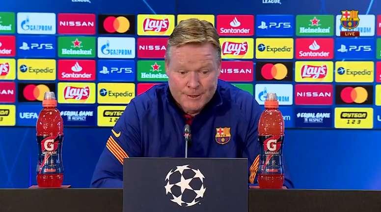 Koeman explicou porque não convocou Messi. Captura/FCBarcelona