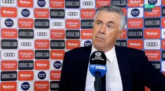 Ancelotti no tuvo problemas en reconocer haber estado poco fino. Captura/Movistar+