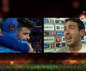 Parejo a fondu en larmes lors de l'entretien post-match. TVE