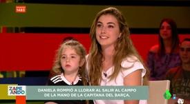 Ela é torcedora do Madrid, não do Barcelona. LaSexta