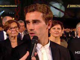 Griezmann was unimpressed by those who failed to show up to the ceremony. MEGA