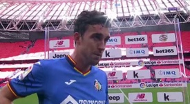 Jaime Mata se da por satisfecho con el botín logrado en San Mamés. beINSports