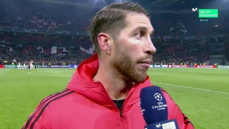 Ramos desafió al Ajax de cara a la vuelta. Movistar+