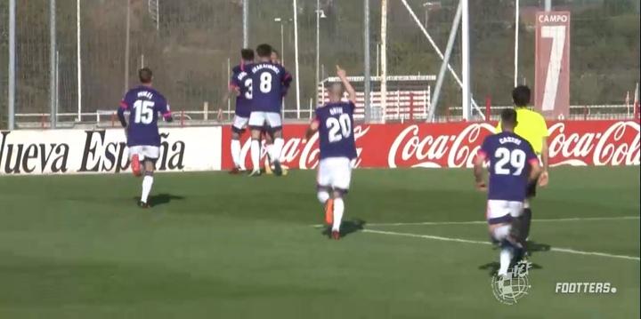El Valladolid volvió a golpear muy pronto. Captura/Footters/Archivo
