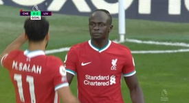 Mané was too much for Chelsea. Screenshot/DAZN