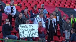 Torcedores da Bielorrússia aproveitam a visibilidade e viralizam. Fanatik