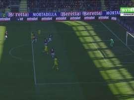 Con un puñado de pases el Frosinone sacó los colores al Milan. Futbol2